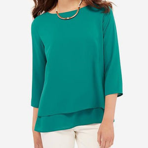 The Limited Teal Layered Blouse (L)